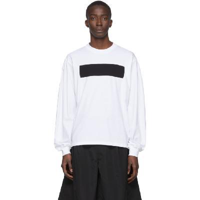 Random Identities White No Logo Long Sleeve T-Shirt