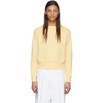 Random Identities Yellow Cropped Sweater