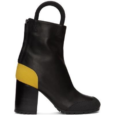 Random Identities Black Worker Boots
