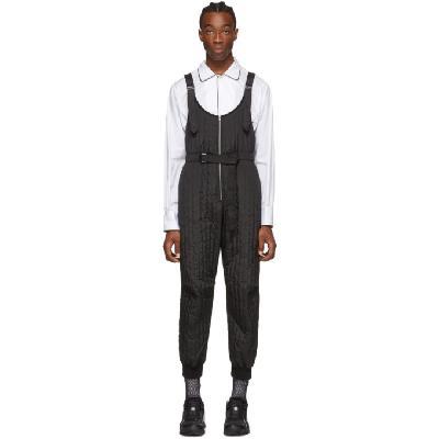 Random Identities Black Quilted Jumpsuit