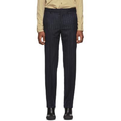Random Identities Navy & White Wool Classic Trousers