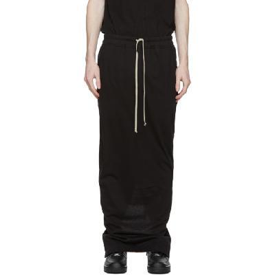 Rick Owens Drkshdw Black Pull-On Pillar Skirt