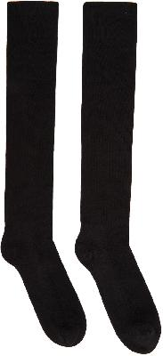 Rick Owens Black 'Performa FW20' Knee-High Socks