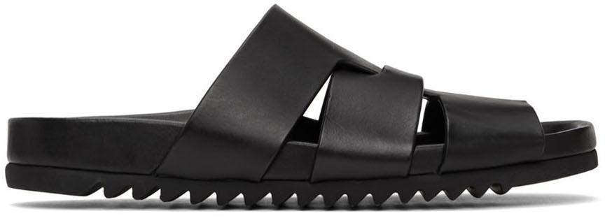 Rick Owens Black Lazarus Sandals