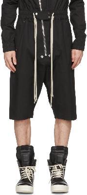 Rick Owens Black Gary Short Flightsuit