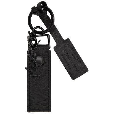 Saint Laurent Black Monogramme Keychain