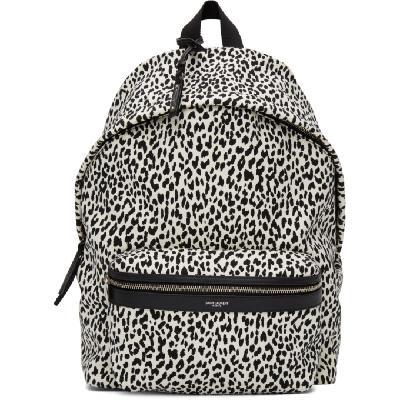 Saint Laurent White & Black City Backpack