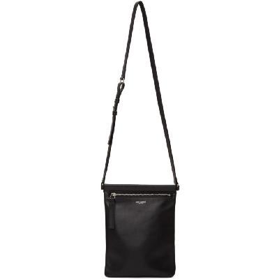 Saint Laurent Black Flat Sid Cross Body Bag