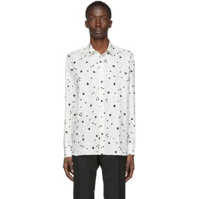 Saint Laurent Off-White Silk Brilliant Shirt