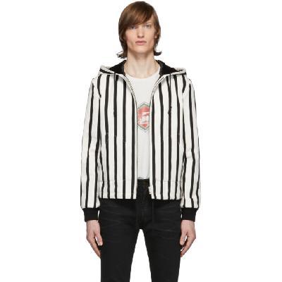 Saint Laurent Black & White Bouclé Baja Jacket