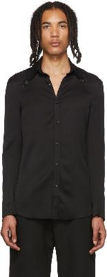 Sankuanz Black Metal Collar Shirt