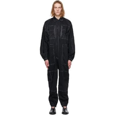 Sasquatchfabrix. Black All-In-One Jumpsuit