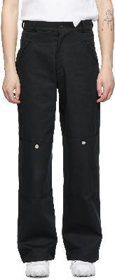 Spencer Badu Black Chino Cargo Pants