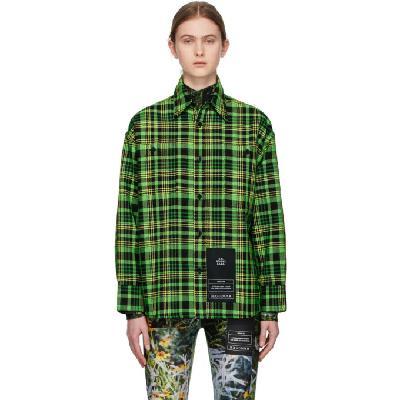 S.R. STUDIO. LA. CA. Green Check Oversized Shirt
