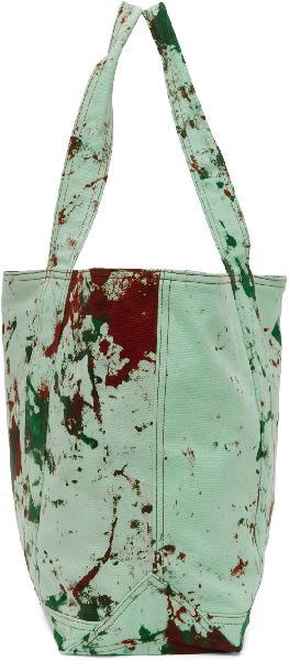 S.R. STUDIO. LA. CA. SSENSE Exclusive Green MPM SOTO Hand-Dyed Tote