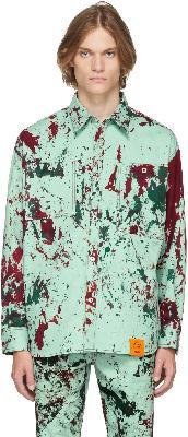 S.R. STUDIO. LA. CA. SSENSE Exclusive Green Hand-Dyed SOTO Shirt