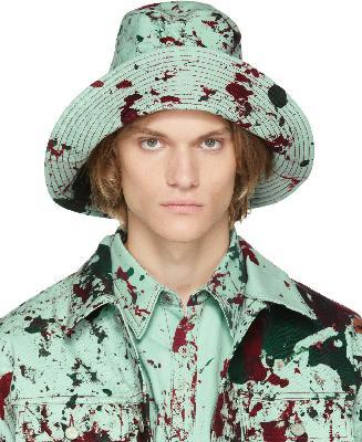 S.R. STUDIO. LA. CA. SSENSE Exclusive Green & Red Hand-Dyed MPM SOTO Bucket Hat