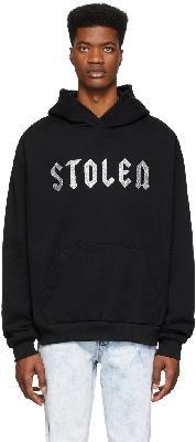 Stolen Girlfriends Club SSENSE Exclusive Black Glitter Logo Hoodie