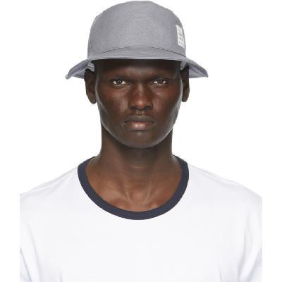 Thom Browne Grey Canvas Classic Bucket Hat