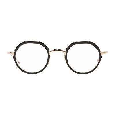 Thom Browne Gold & Black TB-911 Glasses