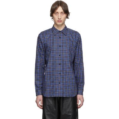 Tibi SSENSE Exclusive Blue & Multicolor Check Kingston Shirt