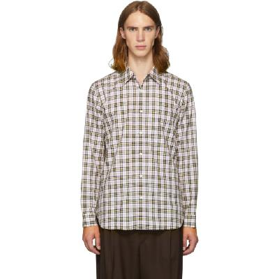 Tibi SSENSE Exclusive White & Multicolor Check Kingtson Shirt