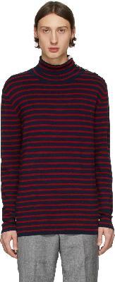 Tiger of Sweden Navy & Red Hamper Sweater
