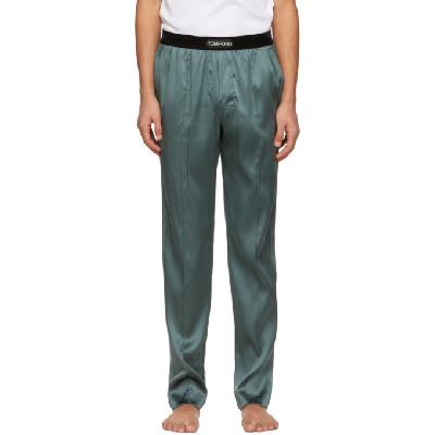 TOM FORD Grey Silk Pyjama Pants