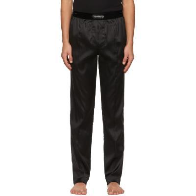 TOM FORD Black Silk Pyjama Pants