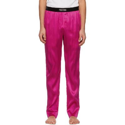 TOM FORD Pink Silk Pyjama Pants