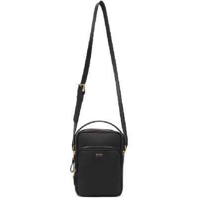 TOM FORD Black 2 Zip Shoulder Bag