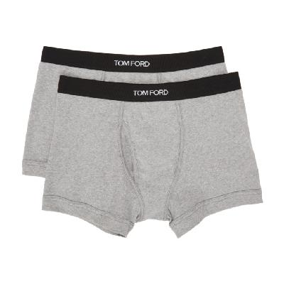 TOM FORD Two-Pack Grey Jersey Boxer Briefs