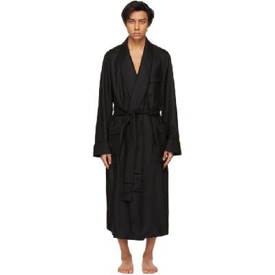 TOM FORD Black Cashmere Twill Robe