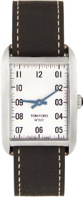TOM FORD Black & Silver Leather 001 Watch