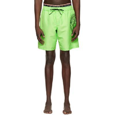 Versace Underwear Green Medusa Swim Shorts