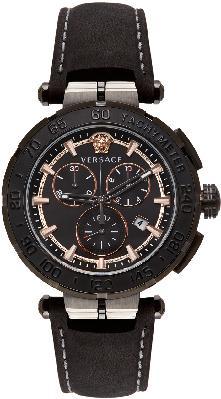 Versace Black Greca Chrono Watch