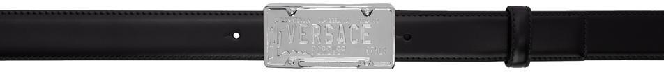 Versace Black & Silver 'Spring/Summer 20' License Plate Belt