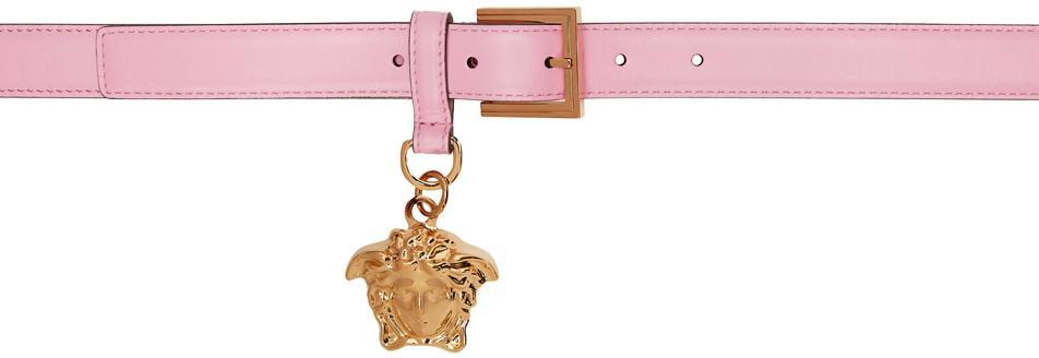 Versace Pink 'La Medusa' Charm Belt