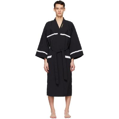 We11done Black Night Gown Robe