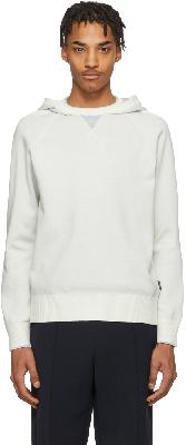 Z Zegna White Knit Pullover Hoodie