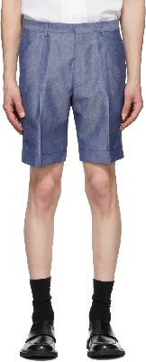 Z Zegna Blue Linen Summer Shorts