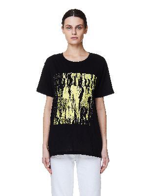 Ann Demeulemeester Black Printed Cotton T-Shirt