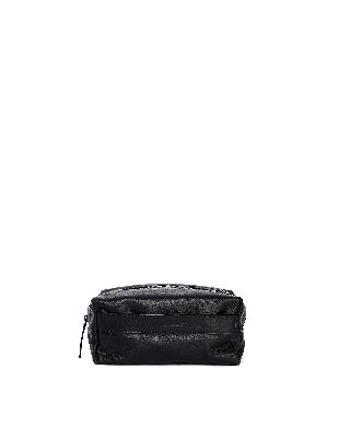 Ann Demeulemeester Black Leather Wash Bag