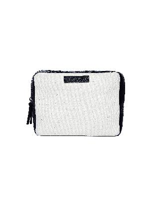 Ann Demeulemeester Canvas & Leather Wash Bag