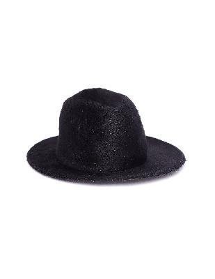 Ann Demeulemeester Black Fur Hat