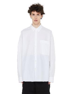 Ann Demeulemeester White Chest Pocket Shirt