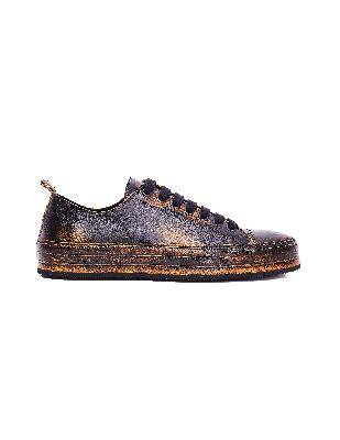 Ann Demeulemeester Brown Leather Asportabile Sneakers
