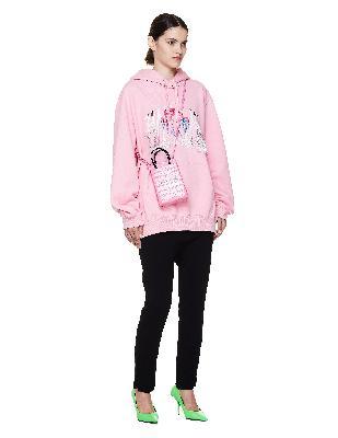 Balenciaga Pink Leather Shopping Phone Holder