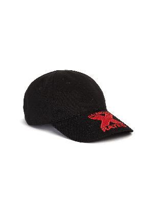 Balenciaga Black Embroidered Cap