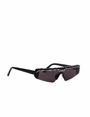 Balenciaga Black Ski Rectangle Sunglasses